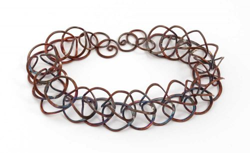 Copper Statement Necklace Windsong Jewellery Design