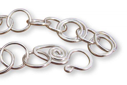 Argentium Silver Double Link Bracelet
