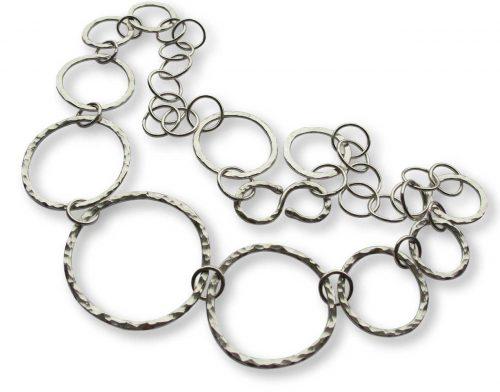 Argentium Silver Textured Link Necklace