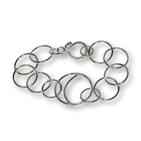 Crescent Moon Argentium Silver Bracelet Windsong Jewellery Design