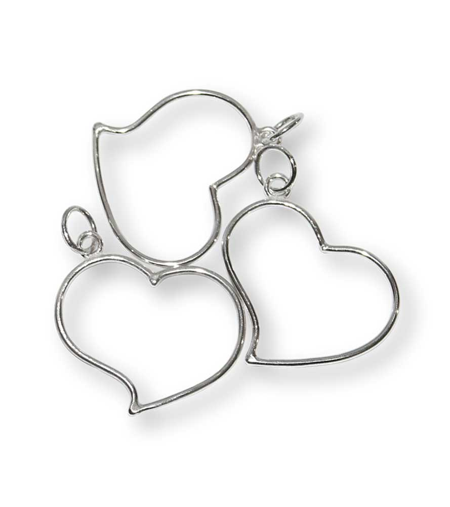 Shimmy Heart Pendants Windsong Jewellery Design
