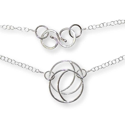 Argentium Silver Double Crescent Necklace Windsong Jewellery Design
