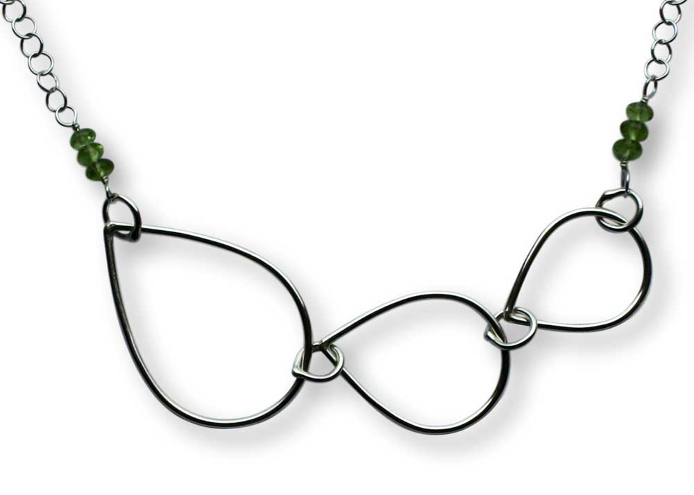 Argentium Silver Raindrop Trio Necklace Windsong Jewellery Design