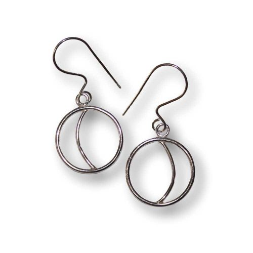 Argentium Silver Small Crescent Moon Earrings Windsong Jewellery Design