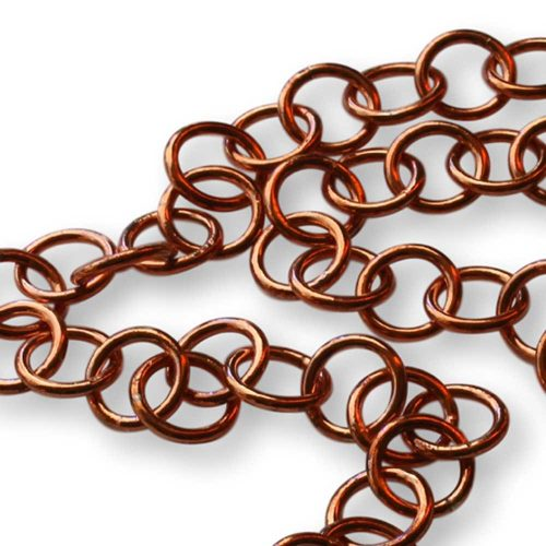 Copper Argentium Silver Link Necklace Windsong Jewellery Design