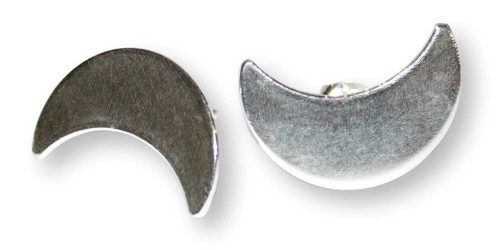 Sterling Silver Crescent Moon Stud Earrings Windsong Jewellery Design