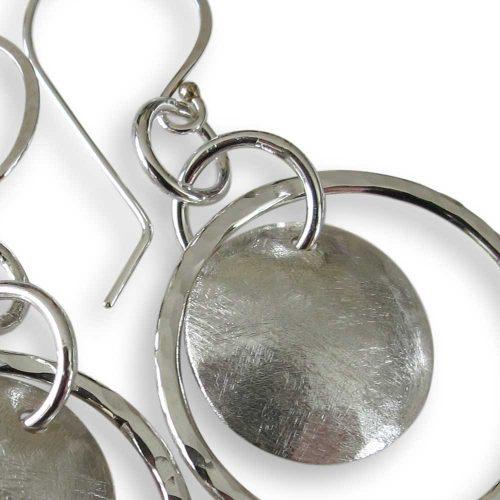 Sterling Silver Full Moon Earrings Windsong Jewellery Design