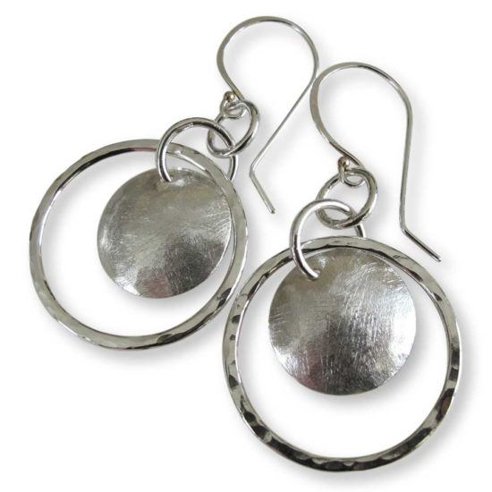 Sterling Silver Full Moon Earrings Windsong Jewellery Design